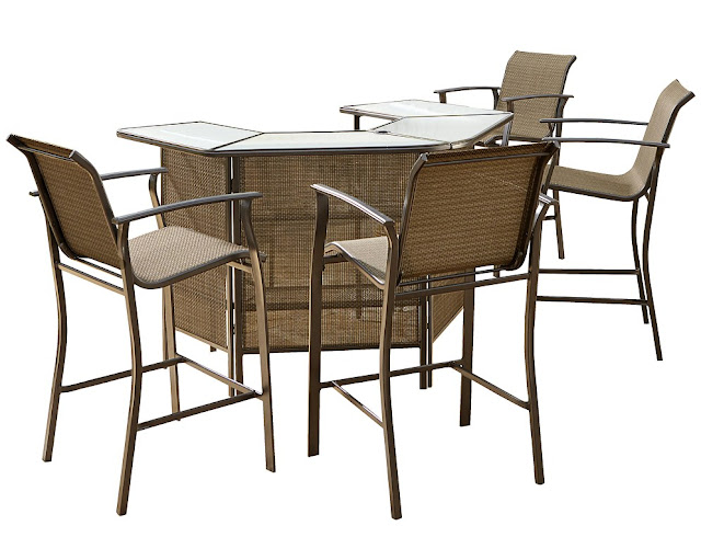 outdoor patio bar furniture set 4 chair