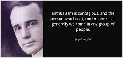 Enthusiasm is contagious quote