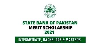 State Bank of Pakistan SBP 2021 Merit Scholarship Program - Apply online