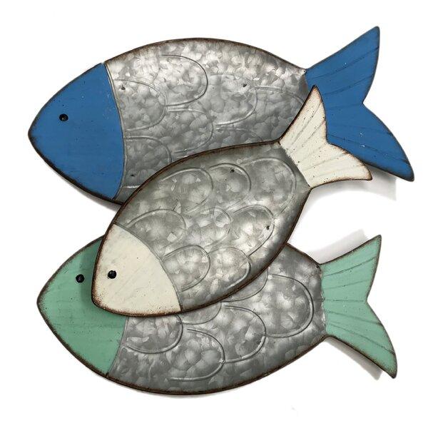 3 Piece Decorative Fish Tray Wall Decor Set