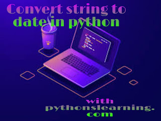 convert string to date in python