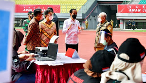 Tinjau Vaksinasi di Stadion Patriot Chandrabhaga Kota Bekasi Ini Penjelasan Presiden