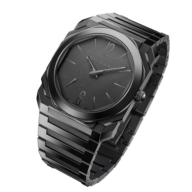 Bulgari Octo Finissimo Automatic in black sandblast-polished ceramic ref. 103368