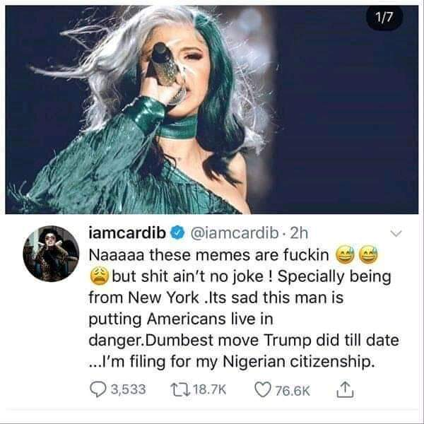 GIST: See which american celebrity wants to become a Nigerian Citizen!!