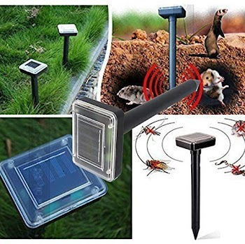 60% OFF 2 Pack Mole_Repelent_Stakes, Ultrasonic_Solar Powered Spike Electronic Devices Outdoors for Lawn Garden Yard Outdoor Pest_Control Ultrasonic_Pest_Repeler Pest_Deterent [Ship From US]
