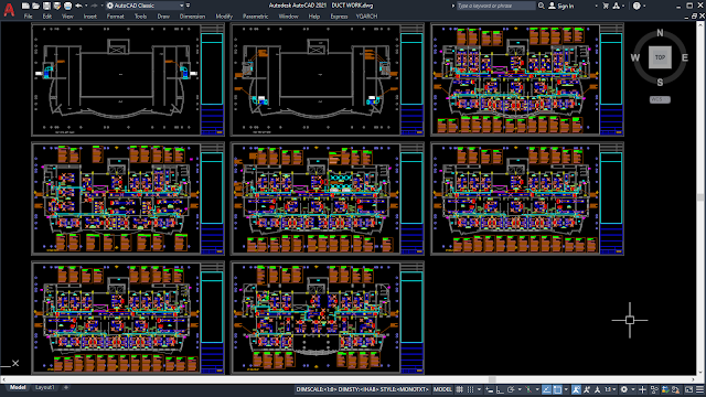 Chilled Water & FCU [HVAC Project][DWG]