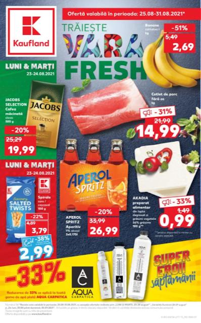 Kaufland Promotii + Catalog - Brosura 25-31.08 2021