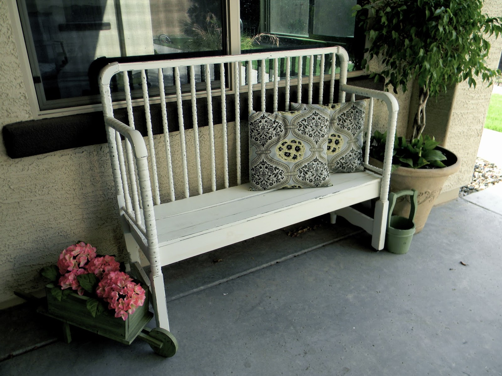 Baby Crib turned into a Bench