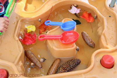 Fall Themed Water Table
