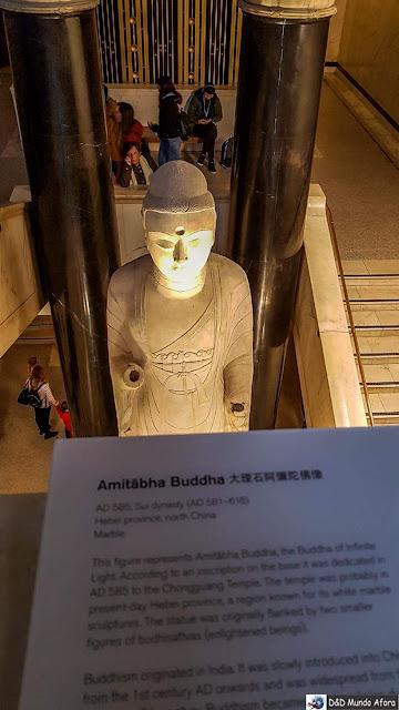 Seção da Ásia e a China no Museu Britânico em Londres