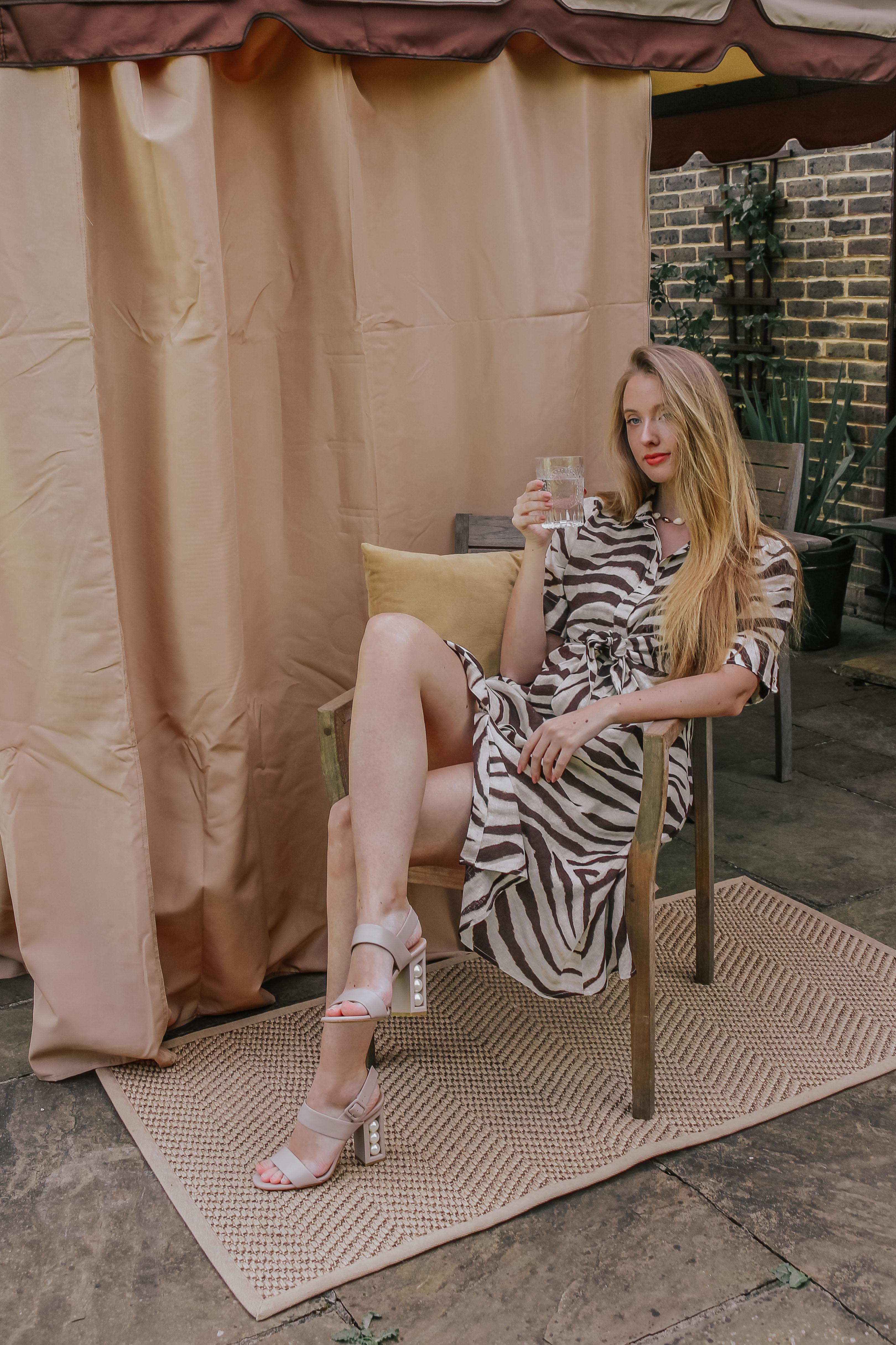 Ralph Lauren Zebra Print Shirt Dress