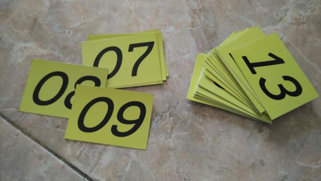 Stiker Nomor