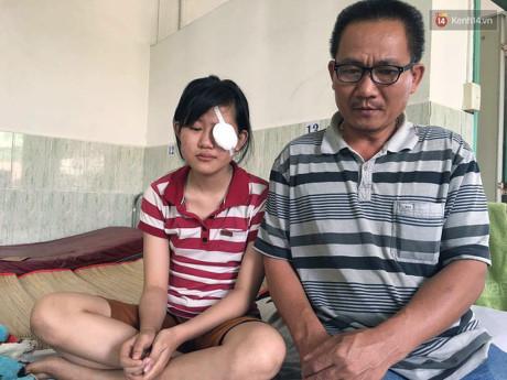 Nữ sinh mù mắt vĩnh viễn sau sự cố pháo hoa ở Quảng Ngãi