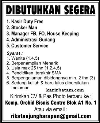 Lowongan Kerja Orchid Business Centre