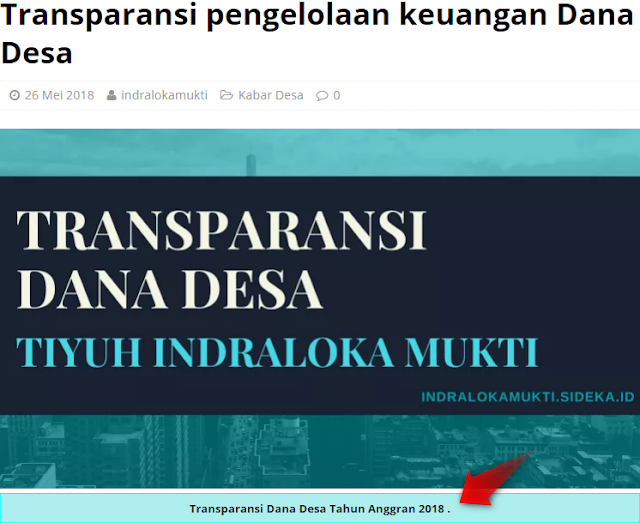 Cara Mendapatkan Nilai Tinggi Website Desa (SiDeKa)