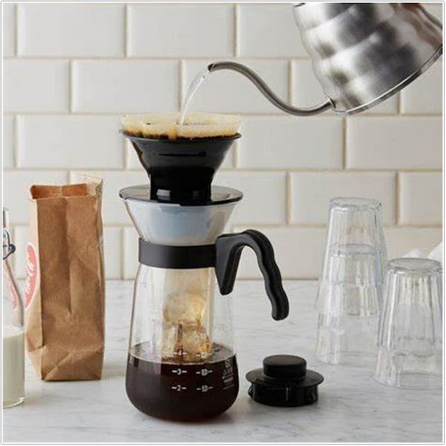Hario V60 Glass Iced Coffee Maker 700ML;Best Cold Brew Coffee Maker;Best Hot and Cold Brew Coffee Maker.