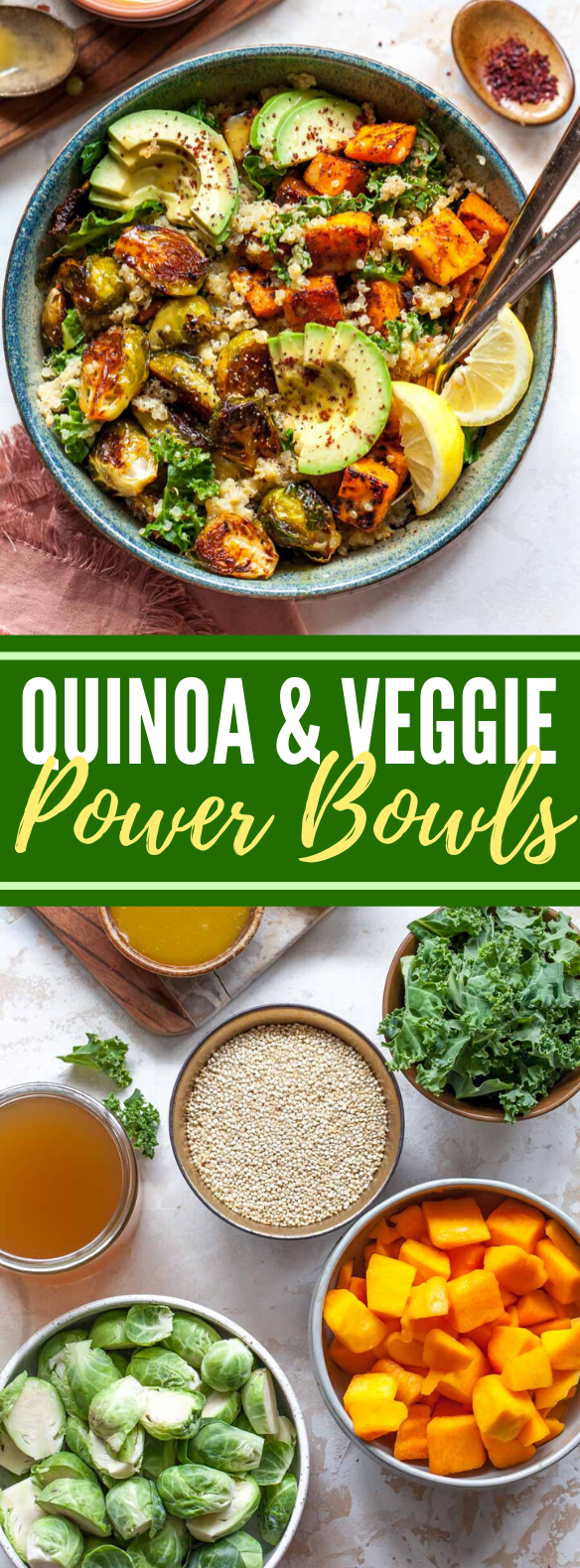 Quinoa and Veggie Power Bowls #vegan #dinner