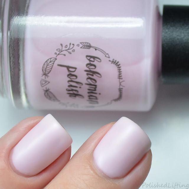 pink matte nail polish