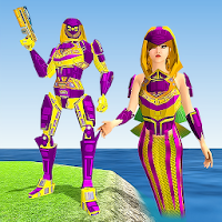 Mermaid Transforming Robot: Air Jet Robot War Game for Android