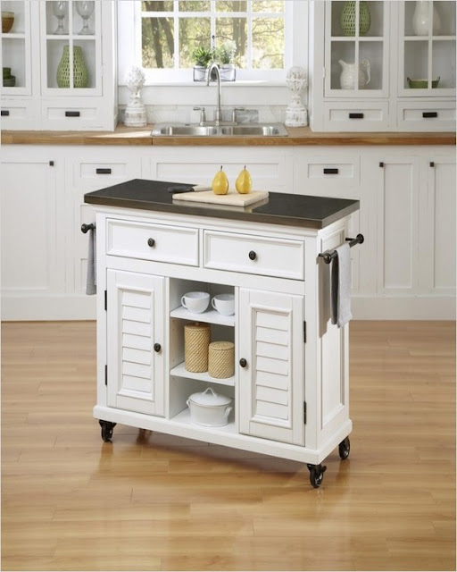 small kitchen designs with portable island