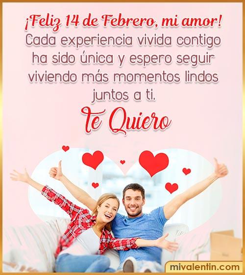feliz 14 de febrero mi amor