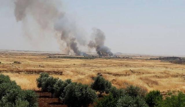 إخماد العديد من الحرائق طالت أراضي زراعية في السويداء