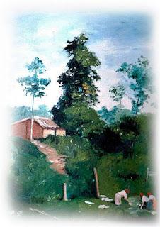 paisagem em óleo sobre tela