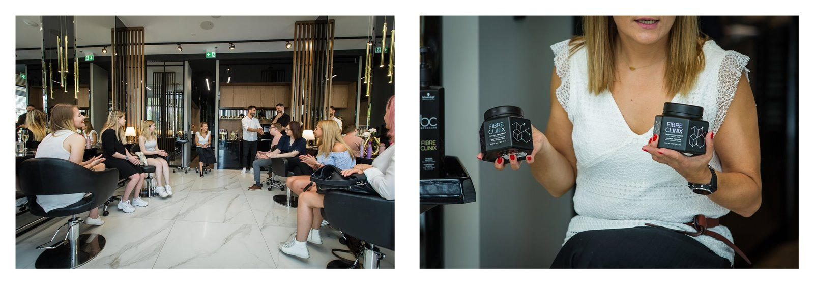 8 Event w łódzkim salonie fryzjerskim LUISSE na temat pielęgnacji BC FIBRE CLINIX Schwarzkopf Professional. Salon fryzjerski Łódź - moja opinia na temat produktów BC Fibre Clinix.