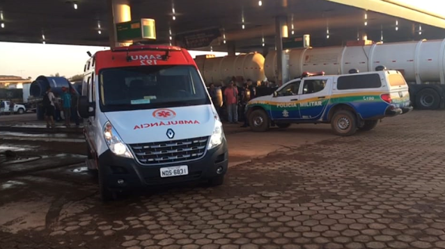 ASSALTO: Caminhoneiro é baleado ao reagir assalto no pátio de posto de combustíveis