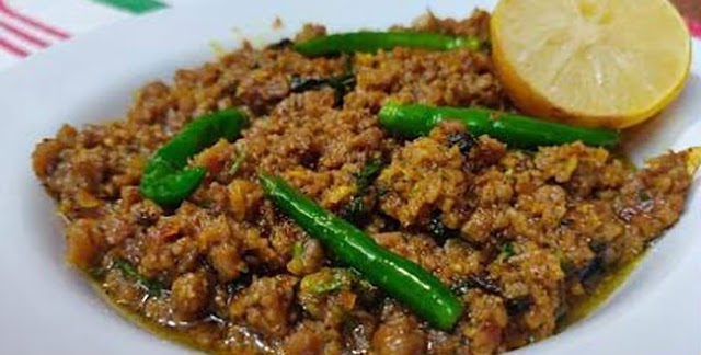 Non Veg Food - Lemon Black Pepper Mutton Keema Recipe