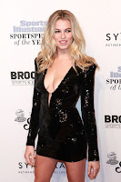 Hailey Clauson best red carpet dresses Sports Illustrated Sportsperson of the Year 2016 in New York