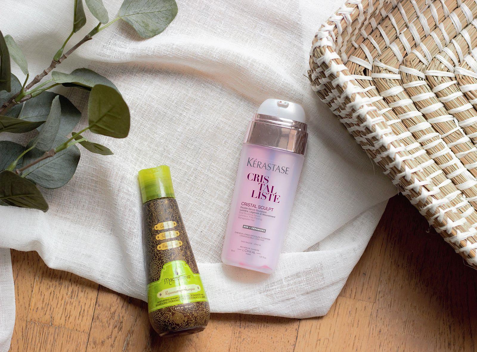 Empties Haircare - Macadamia Rejuvenating Shampoo, Kerastase Sculpt