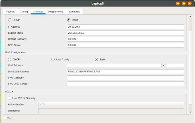 IP laptop3 vlan20 lt2