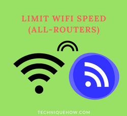 How to Quickly Limit Wifi Speed for Others