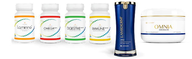 Laminine, Omega, Digestive, Immune, Lamiderm, Omnia