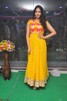Pujitha in Yellow Ethnic Salawr Suit Stunning Beauty Darshakudu Movie actress Pujitha at a saree store Launch ~ Celebrities Galleries 007.jpg