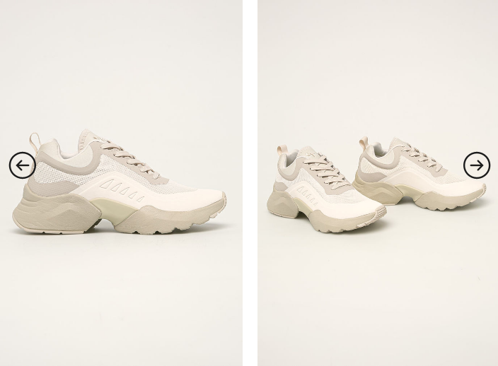 Pantofi sport de femei cu talpa groasa albi model 2020 de firma la reducere