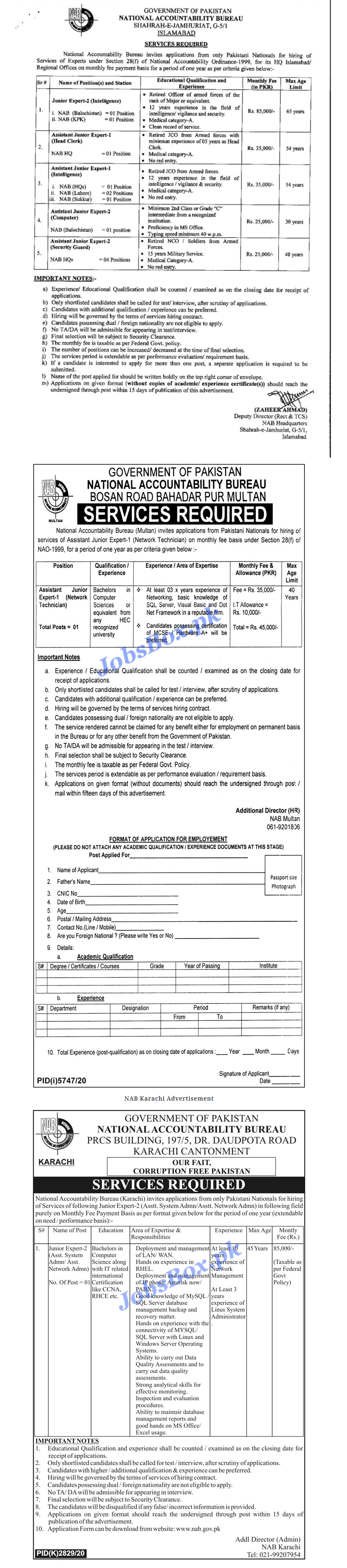 Latest National Accountability Bureau NAB Jobs 2021