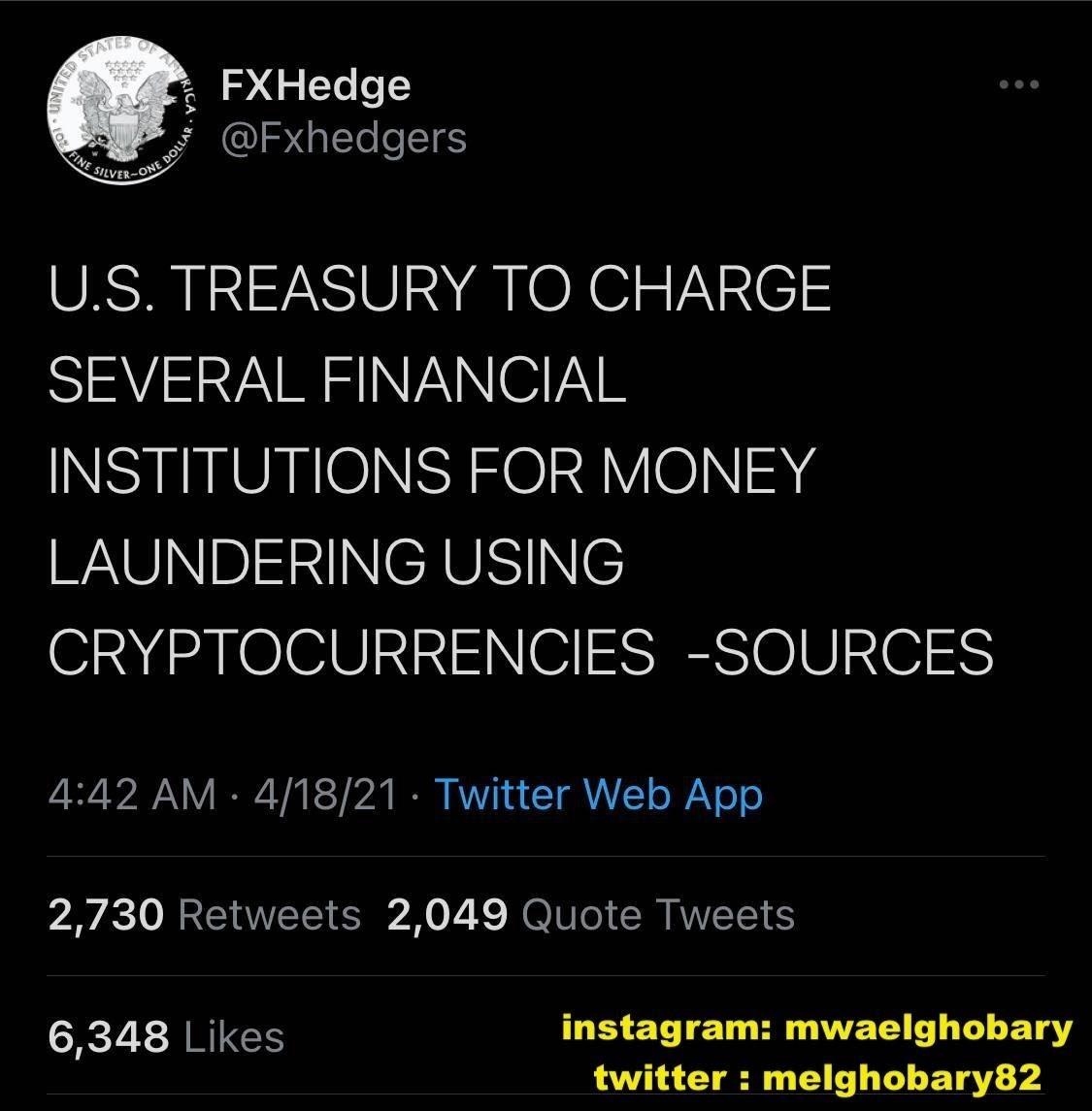 هبوط حاد لسوق العملات المشفرة بسبب تغريدة مجهولة