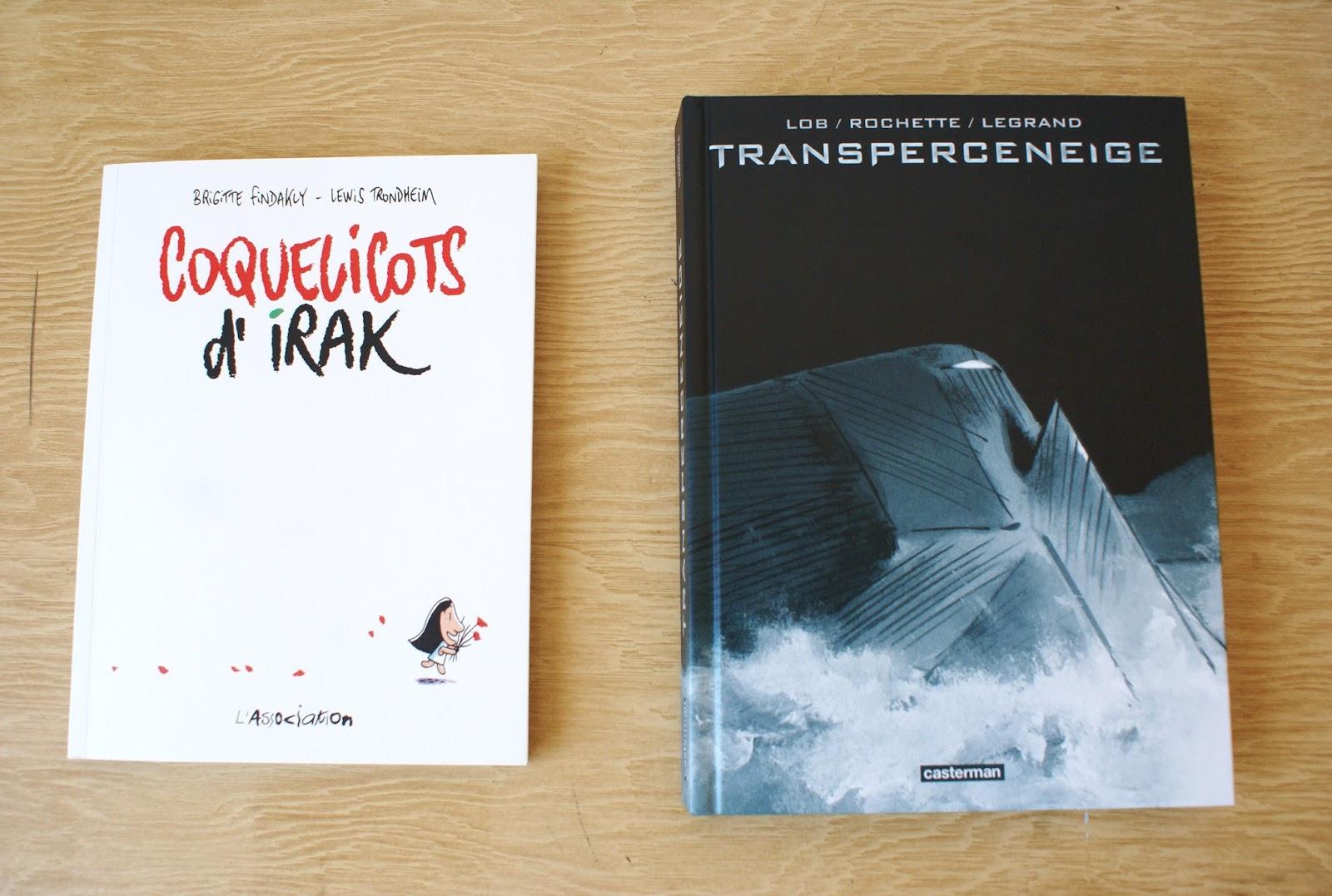 coquelicots d'irak findakly trondheim transperceneige rochette lob legrand bd graphic novel books livres