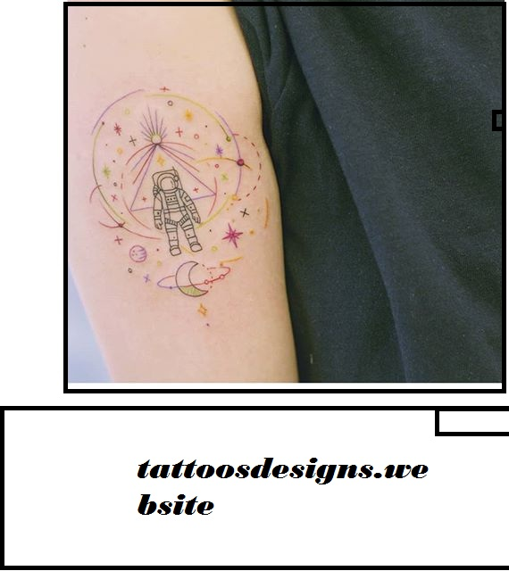 astronaut tattoo ideas for girl