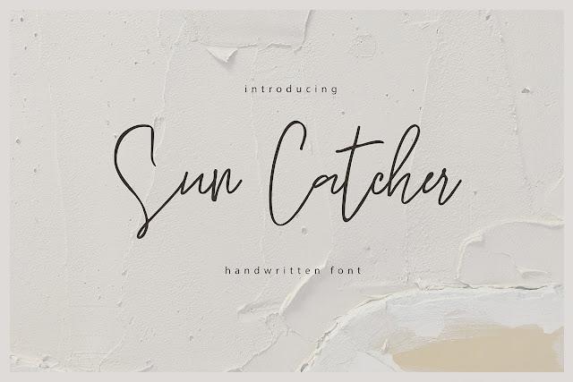 Sun Catcher Handwritten Script Font