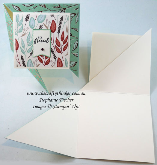 #thecraftythinker #stampinup #funfold #gildedautumn #cardmaking #masculinecard , fun fold, Gilden Autumn, Masculine card, Stampin' Up Demonstrator, Stephanie Fischer, Sydney NSW