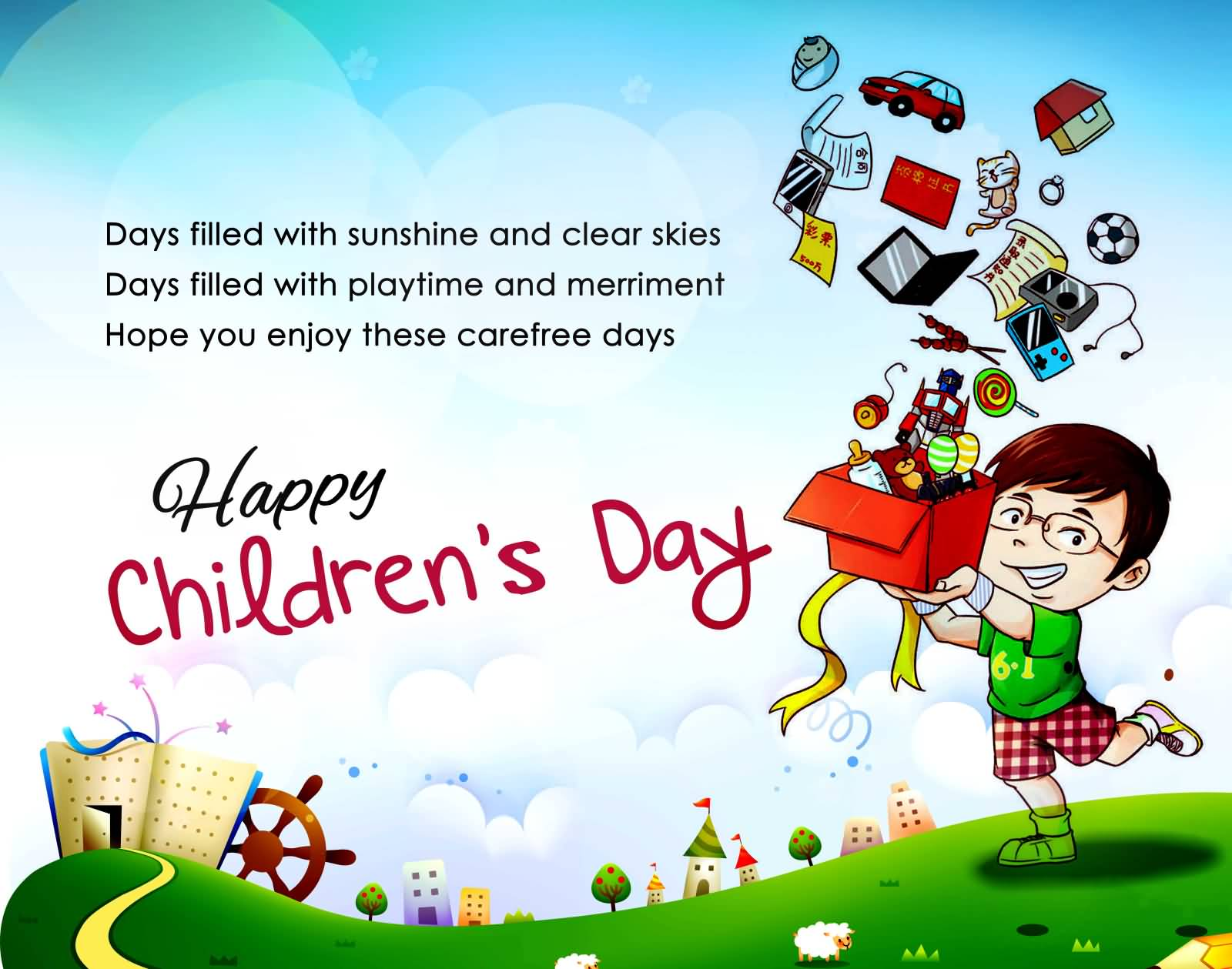 happy childrens whatsapp status - 800×630