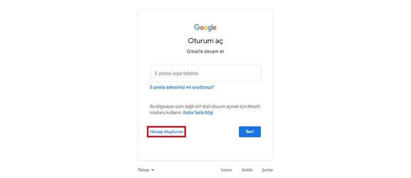 Gmail Hesabı Nasıl Oluşturulur?