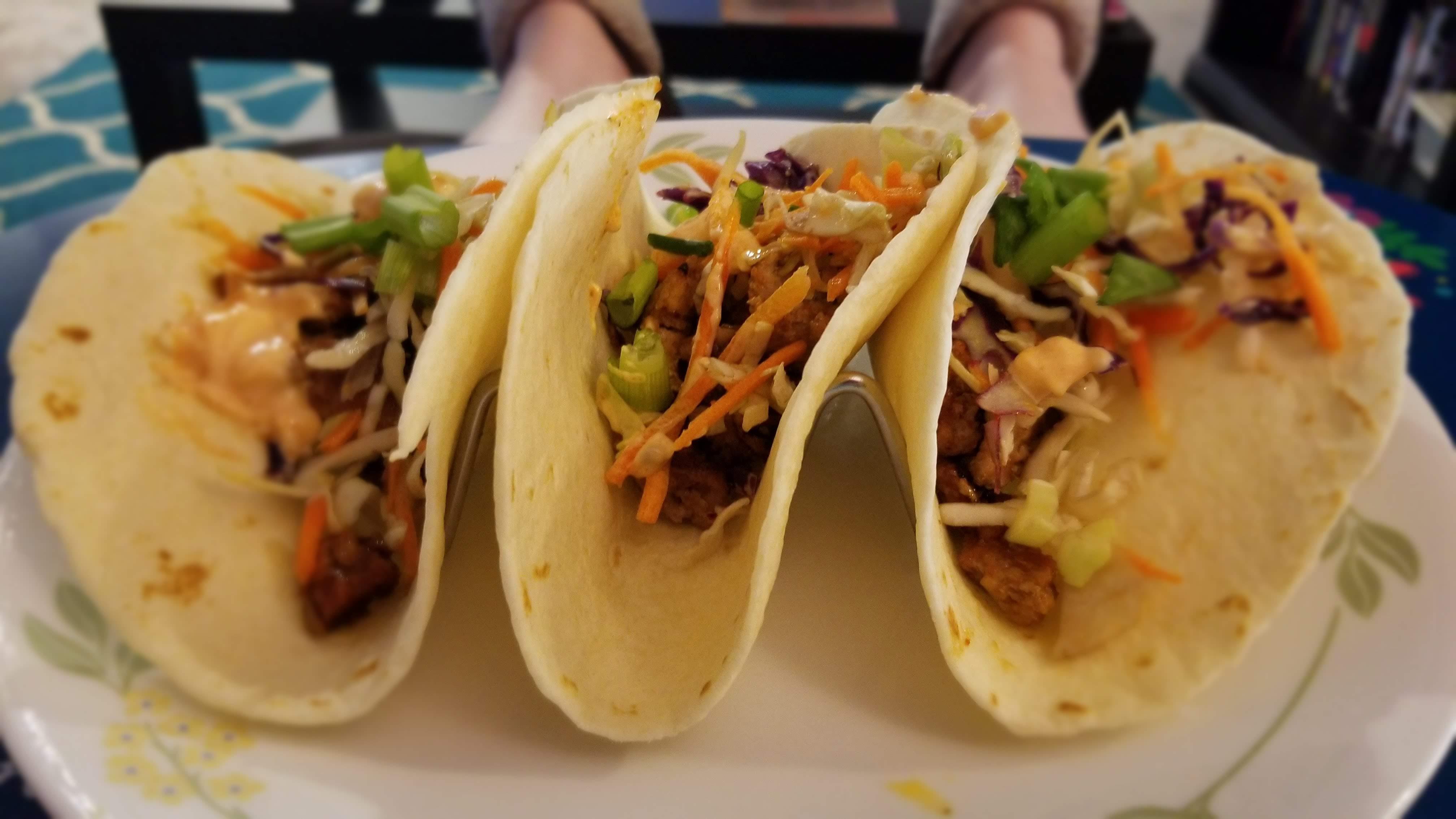 Korean pork tacos, from Home Chef