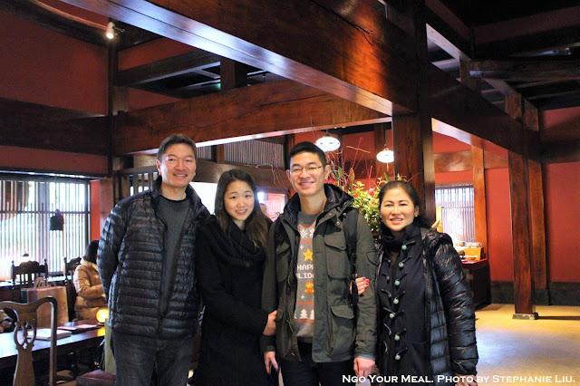 Family at Tokyo Shiba Tofuya Ukai in Tokyo, Japan