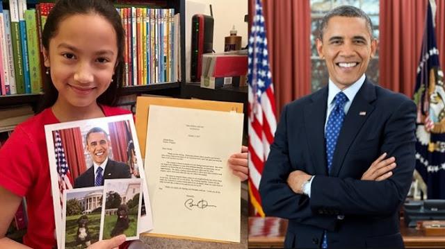 HEBOH!! Tulis Surat ke Obama, Gadis Asal Indonesia Ini Mendapat Balasan Yang Mengejutkan! Ini dia Isinya...