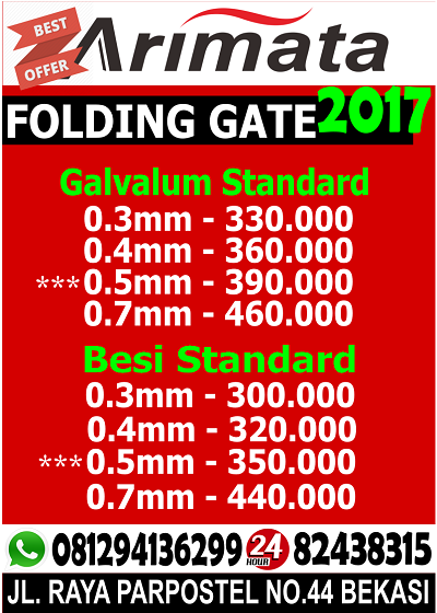 gambar harga folding gate di jakarta barat