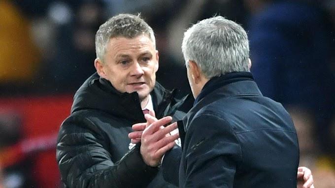"""Solskjaer's Man Utd """"lucky"""" says Tottenham boss Mourinho"""